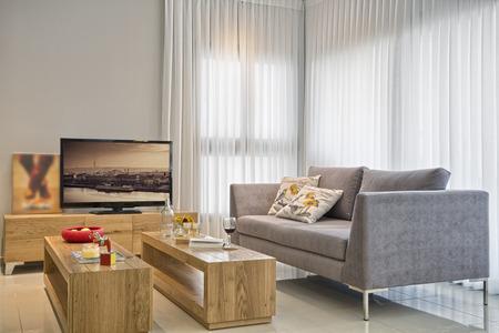 Luxusní moderní obývací pokoj Reklamní fotografie