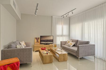 Luxe Modern Living Room Stockfoto