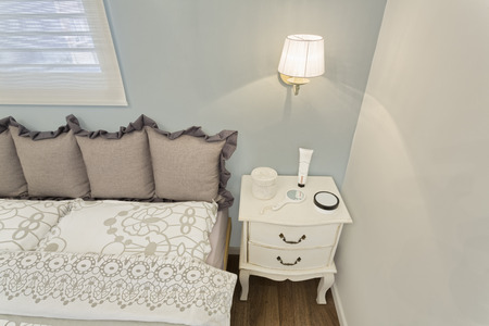 luxury hotel room: Part Of Modern luxury bedroom with wallpaper   Luxury Hotel Room