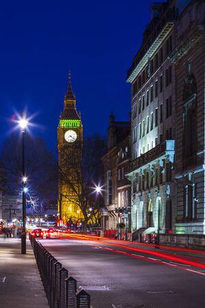 london night: Speed motion at night London, blue light - London City Street Abstract Light