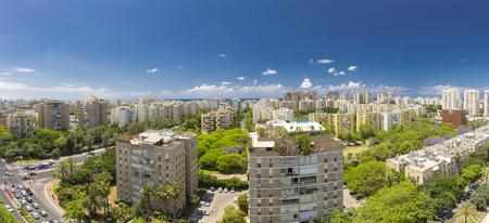 ramat aviv: Tel Aviv Cityscape - Ramat Aviv Aerial View At Sunny Day