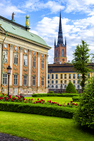 Scenic of the Old Town (Gamla Stan) in Stockholm, Sweden Editorial