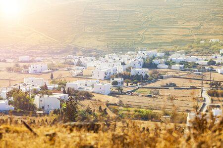 urban idyll: Amazing landscape of Tinos.Sunny Day OnTinos Island, Small village in Tinos Island, Greece.