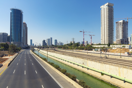 yom kipur: Empty freeway at day