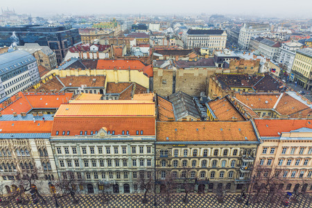 Aerial View On Budapest At Winter, Hungary Editorial