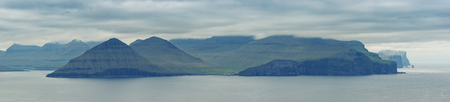 Beautiful Panoramia Of Faroe Islands Standard-Bild