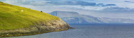 Beautiful Panorama Of Faroe Islands Standard-Bild