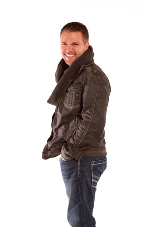 A smiling man on a white background.