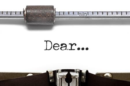 my dear: Macchina da scrivere Gentile
