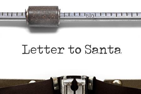 typebar: Typewriter Letter to Santa Stock Photo