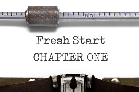 frisse start: Typewriter Fresh Start