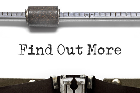 find out: Find Out More Typewriter