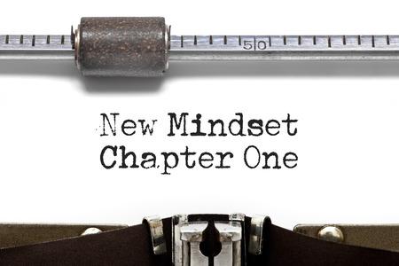 Close up vintage New Mindset Chapter One Typewriter photo