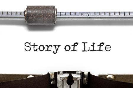 narrate: Story of Life text on Typewriter