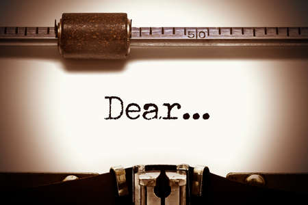 dear: Typewriter Dear