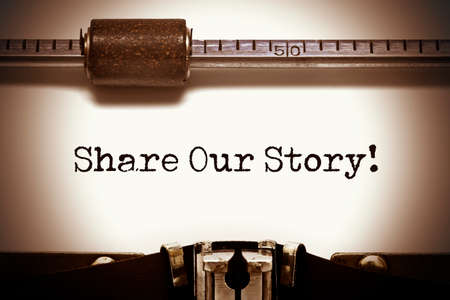 narrate: Share Our Story Typewriter