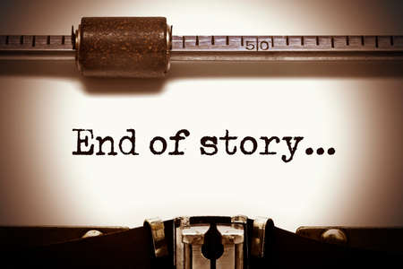 narrate: End of story Typewriter