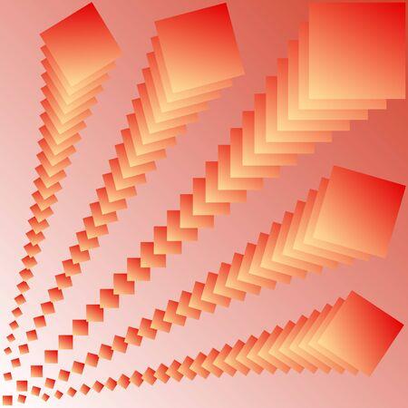 abstrakce: Vektorové ilustrace abstrakce v několika sloupcích čtverců.