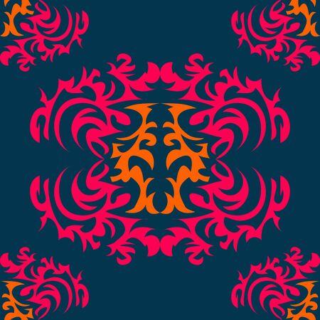 crimp: Seamless vintage background Vector background for textile. Illustration