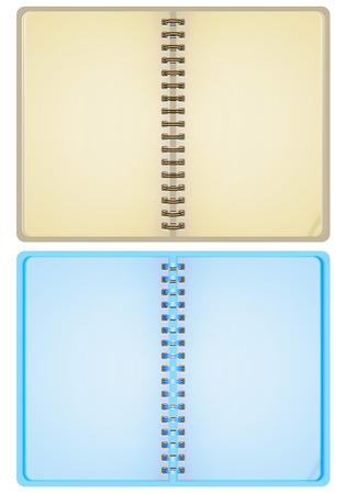 ball pens stationery: Ilustración vectorial de dos cuadernos.