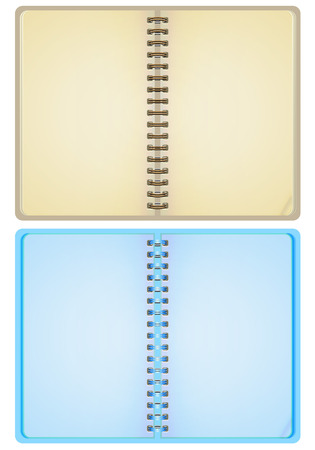 Vector illustration of two notebooks. Vector