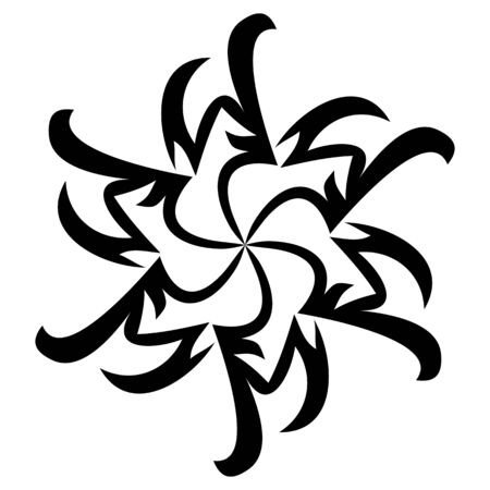 Vector illustration on an abstract decorative ornament. Vector