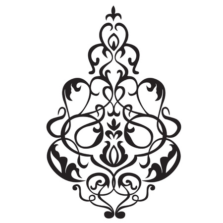 whorls: Vector illustration of a beautiful pattern with whorls.