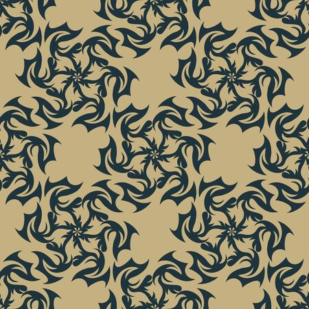 crimp: Vector illustration of seamless texture with decorative ornaments. Illustration