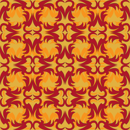 Vector illustration of colorful seamless texture with decorative ornaments. Vector