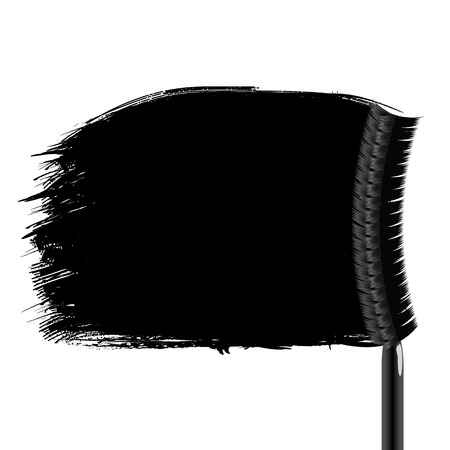 smeared mascara: Vector illustration of a pattern. Black stripes in grunge style, smeared mascara brush.