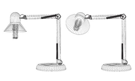 the contour: Vector illustration detailed lamp. Contour. Isolated.