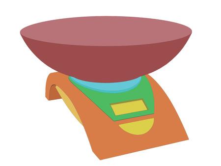 Vector Illustration der bunten elektronischen Waagen. Isoliert. Vektorgrafik
