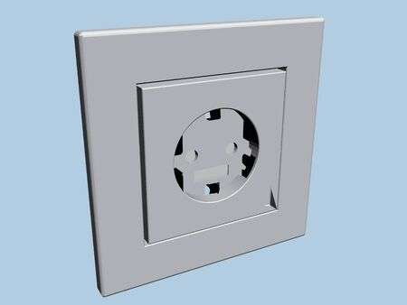 outlet: Vector illustration of an electrical outlet. 3D.