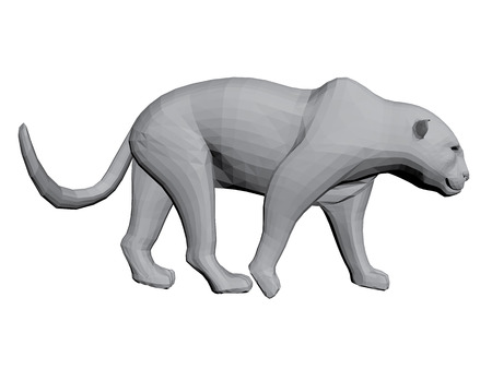 Vector illustration of a leopard. 3D. Isolated.