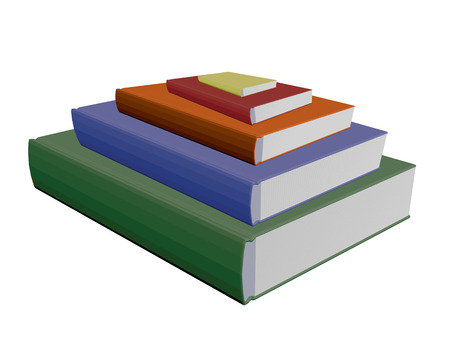 books isolated: Vector illustration of several books. Isolated.