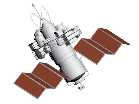 artificial satellite: Vector illustration of an artificial satellite.