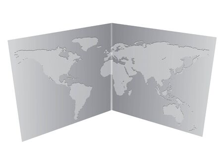 map of asia: Vector illustration of a world map in the book.