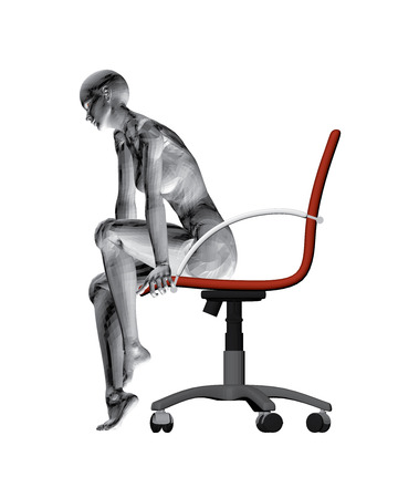 naked woman sitting: Vector illustration of a girl sitting on a chair.