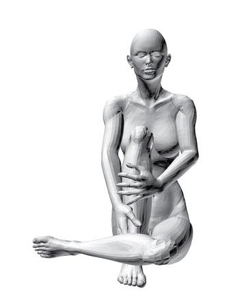 ni�a desnuda: Ilustraci�n vectorial de la sesi�n chica desnuda. Vectores