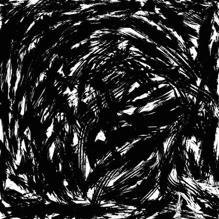 Background with lots of disordered brush strokes. Grunge style. Black-and-white color. opacity mask or irregularities for the texture. Vector illustration. EPS 8. 版權商用圖片 - 61592644