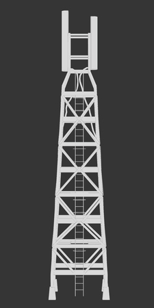 radio tower: Vector illustration of a radio tower with a ladder.
