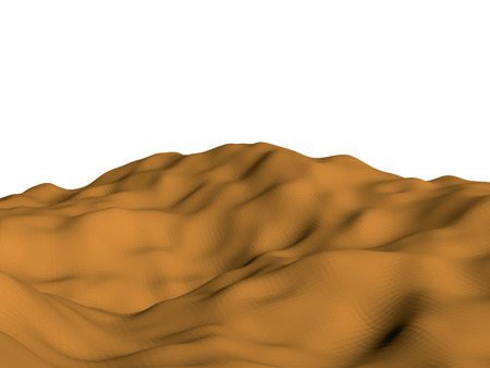 dunes: Abstract Polygon background desert. Yellow sand. Vector illustration. 3D. Illustration