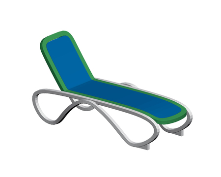 Vector illustration of a summer couch on a white background. Isometry. Vectores