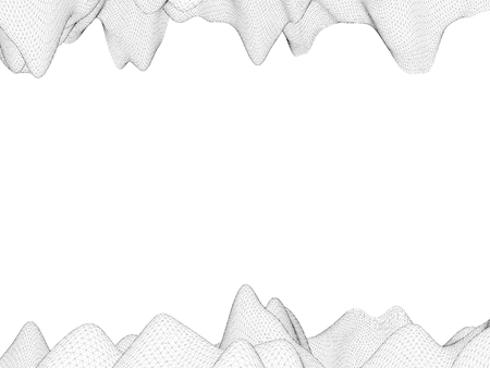 Background with polygonal irregularities. Vector illustration. Mesh coverage. 向量圖像