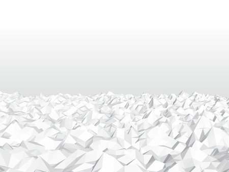 Background with polygonal noise. Sharp mountains 3D. Vector illustration. Ilustração