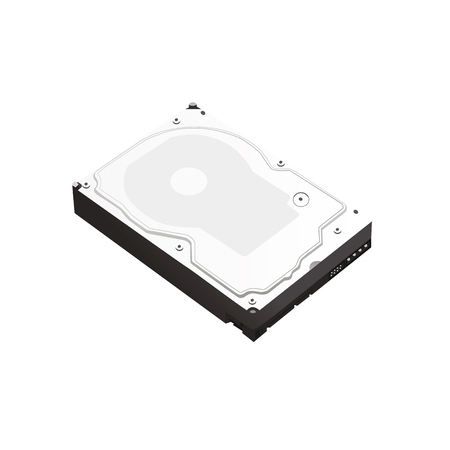 Hard disk isometry. Hard drive icon. Vector illustration.