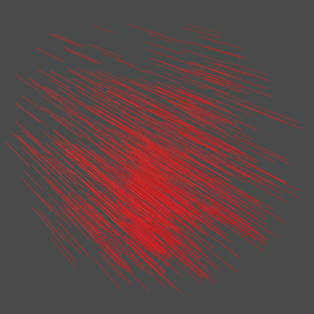 Abstract background with red lines. Background with 3D rectangles located next to each other and in one direction. Vector illustration with lines.