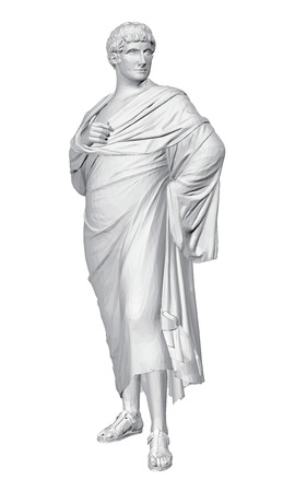 Statue of Mark Anthony. 3D statue of white color. Polygonal statue. Vector illustration. Standard-Bild - 102386068