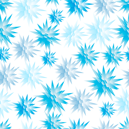 Seamless texture with snowflakes in the form of polygonal shapes. Vector illustration. 向量圖像