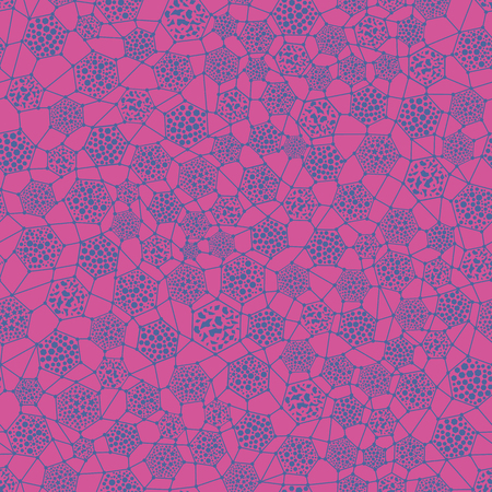 Seamless texture with cells with different particles. Vector illustration. Illustration